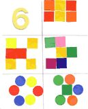 subitizing practice -kids can use stickers or scraps to show ways to make number