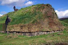 Reconstructed Viking House in Þjóðveldisbær, Iceland (2010)