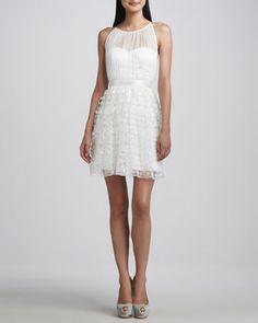 Sleeveless Lace-Overlay Dress. $92 (reg$264) #WeddingDress