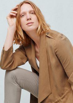 Soft trench - Coats for Women   MANGO USA