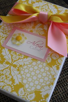 Vibrant Yellow and Pretty in Pink Custom Stationary by idobliss, $18.00