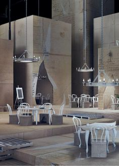 "PAPIERNIA club&restaurant, design from the ""XII"" collection by Karina Wiciak"