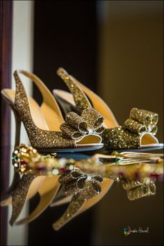 why hello gold glitter Kate Spade bowtie shoes | Bengali Muslim Wedding