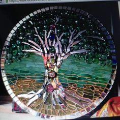 Mosaic Art, Mosaics, Mirror Art, Tree Art, Dj, Fair Grounds, Trees, Handmade, Crafts