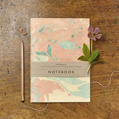 Marble Notebook with Gold Foil