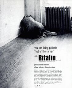 not funny at all. vintage pharmaceutical ad for ritalin -- which i think is the stuff given today to kids diagnosed with ADD or ADHD Funny Vintage Ads, Vintage Humor, Vintage Menu, Vintage Recipes, Old Advertisements, Retro Advertising, Retro Ads, Health Ads, Mental Health