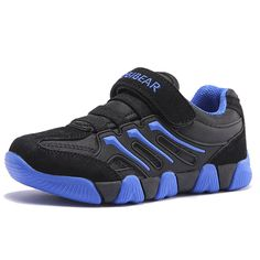 Hobibear Kid Boy Girl Outdoor Sneakers AS3211(9M,Black). Please refer to our size chart in the Product Description before order the shoes. breathable mesh upper. buckle type easy to wear. non-skid. 3 colors for selection.