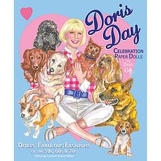 Doris Day celebration collection with 2 dolls and 8 plates of fashions honors the singing screen star known for her dedication to animal activism and welfare.  Includes biographical details by artist and fashion authority David Wolfe. $12.00