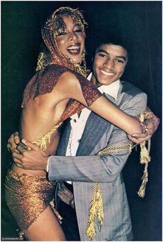Michael Jackson and friend at Studio 54. (Is that Pat Cleveland?)