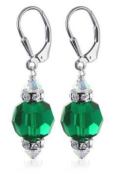 Stunning emerald crystal earrings from Gem Avenue