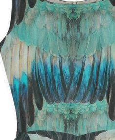 Love the Bird Print & Colors of this Samantha Pleet Dress!!  -Feather Fly Away Dress
