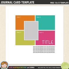 The 571 best free digital scrapbook templates images on pinterest in free digital scrapbooking template journal cards maxwellsz