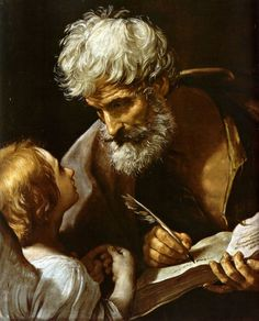 St Matthew and the Angel by Guido Reni, 1635-40