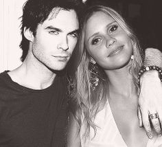 Ian Somerhalder and Claire Holt TVD The Vampire Diaries The Originals Damon Rebekah