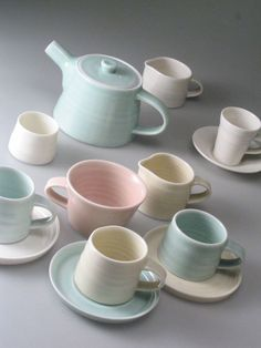 This reminds me of my daughter katie.  When she uses to play tea with her bears.