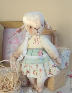Овечка Беата. - белый,кремовый,овечка тедди,новый год 2015,овечка,барашка