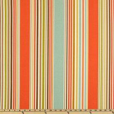 P Kaufmann Indoor/Outdoor Deck Chair Stripe Shell/Aqua