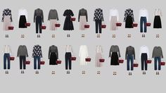 The business casual dress code: capsule wardrobe example.