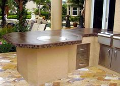 Gather Around A Teppanyaki Grill Outdoor Kitchen Island By Cook N Dine And  Cook