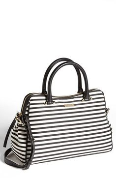 kate spade new york 'charles street - audrey' stripe satchel, medium available at #Nordstrom