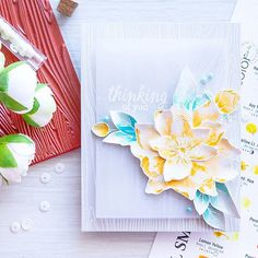 I added lots of physical dimension to this flower from @heroarts My Monthly Kit by shaping the petals with my fingers. This is a fabulous kit for everyone who loves watercolor. #mymonthlyhero #heroarts #watercolor #danielsmithwatercolors #handmadecard #cardmaking #ручнаробота #листівка #акварель