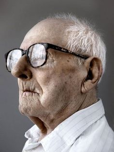 Wonderful wisdom of 100 years of life, old guy, powerful face, wrinckles, lines of life, glasses, intense, strong, portrait
