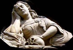 Marie Madeleine, Mary Magdalene, Santa Maria, Venus, Skulls, Saints, Religion, Statue, Art