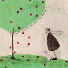 The Apple Doesnt Fall Far From The Tree Poster Print by Sam Toft | Fruugo