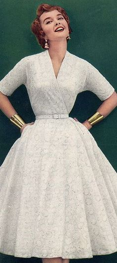 1950's Fashion - sporting the Wonder Woman cuffs decades before!