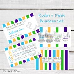 Rodan  Fields Business Card Mini Facial Card  by DoodlesbyDana