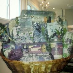 """Zotorius Creations Gift Baskets, LLC ~ """"This basket consists of the following items:   A large wicker basket with handles; Lila Grace Lavender Vanilla floral jewelry box which include (3.7 fl. Oz/100 ml shower gel/3.7 fl.oz/100 ml body lotion /2fl. oz body mist /4 bath fizzers 0.3 oz/10g /A wooden scrub brush); Lila Grace Lavender Vanilla Calming Bath Crystals 42.3 oz./1200g; Lila Grace Lavender Vanilla Soft & Creamy Bubble Bath; 4-Step Pedicure Paddle (pumice stone/file/cleanser…"""