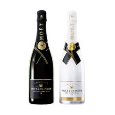 """Moet & Chandon Black & White. On one hand the sensual """"Nectar Imperial"""" a champagne for the pleasure of the senses. And secondly the sophisticated """"Imperial Ice"""" achampagne ice intended for consumption, which looks very aromatic and fresh with hints of mango, licorice and mint, among others."""