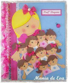 capa de caderno, professora 1de2