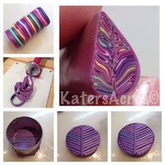 Extruded Leaf Cane by KatersAcres ~ Polymer Clay Extruder Polymer Clay Canes, Polymer Clay Flowers, Fimo Clay, Polymer Clay Projects, Polymer Clay Creations, Polymer Clay Jewelry, Clay Crafts, Clay Extruder, Clay Design