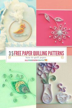 If you're new to quilling, you only need to learn how to make a few basic coils in order to form the foundations for most of these paper quilling projects.