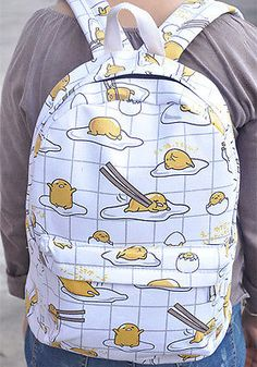 Gudetama-lots-egg-mix-15-backpack-shoulder-bag-school-bags-new-WE281