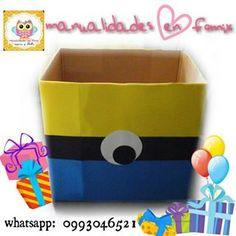 caja de regalos minions buscar con google