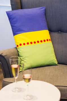 Pillow cover MARGE is inspired by Marge Simpson. Photography by Martina Pöll Homer Simpson, Daisy Chain, Floor Chair, Pillow Covers, Pokemon, Geek Stuff, Couch, Colorful, Throw Pillows