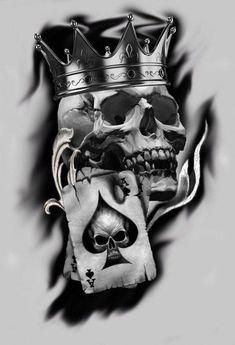 Skull Tattoo Design, Tattoo Design Drawings, Tattoo Sketches, Tattoo Designs, Tattoo Ideas, Totenkopf Tattoo Mann, Totenkopf Tattoos, Skull Sleeve Tattoos, Body Art Tattoos