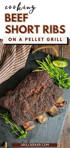 13 reviews · 8.5 hours · Gluten free · Serves 4 · Today we're going to learn how to make beef short ribs on a pellet smoker, but you can do this on any grill, it's all about temperature management. They not only look impressive, but they taste… Beef Back Ribs, Beef Short Ribs, Beef Ribs, Potluck Recipes, Barbecue Recipes, Beef Recipes, Cilantro Lime Vinaigrette, How To Cook Beef, Cookout Food