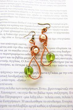 Mycenaean era wire earrings by RenatasArt on Etsy, €12.00
