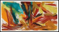 Bullfight 1961 Elaine de Kooning (1918-1989) #American #Art #Abstract #Expressionism #Painting #ShermanFinancialGroup