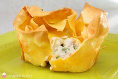 I Cestini di Lasagne Cremose sono un primo molto semplice ma presentato in maniera originale!