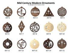 Mid Century Modern Christmas Ornaments