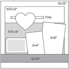 Scrapbook Page Sketch 407