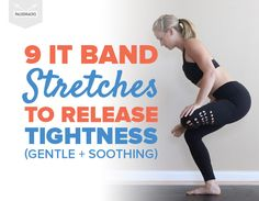 9 IT Band Stretches to Release Tightness (Gentle + Soothing) by madreherf Read It Band Stretches, Knee Stretches, Knee Exercises, Band Exercises, Band Workouts, Stretching Exercises, Resistance Band Stretches, Swim Workouts, Sciatica Exercises