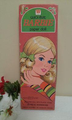 Vintage 1970's Barbie Paper Dolls