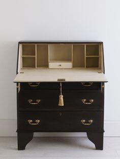 Meet Margot – a beautiful antique bureau hand painted in black and cream