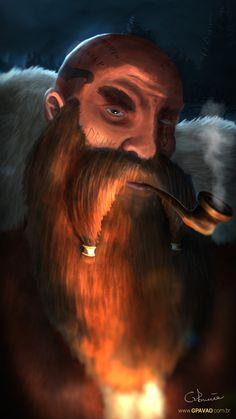Lonesome Dwarf, Gabriel Pavão on ArtStation at https://www.artstation.com/artwork/YwKaq