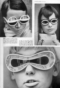 ba1ab3dac75f Sunglasses in the got super weird and funky. You can also see themes of  futurism within the
